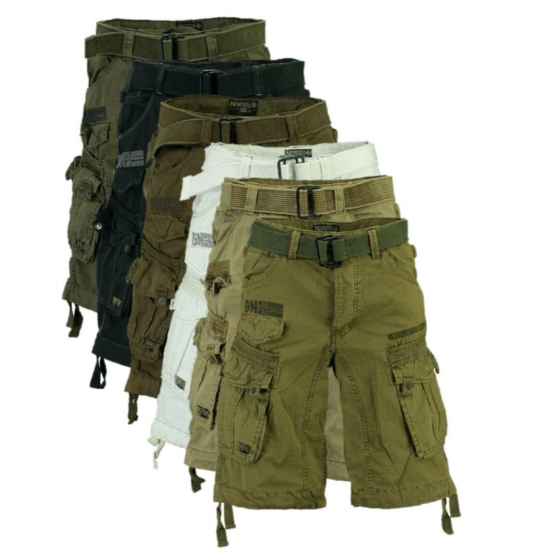 Geographical Norway Uomo Pantaloncini Cargo Pantalone tempo libero cargopants Army Pantaloni Uomo
